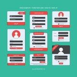 Elemento do Web do vetor ilustração do vetor