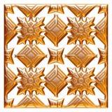 Elemento dorato classico della decorazione su fondo bianco isolato Fotografia Stock Libera da Diritti