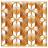 Elemento dorato classico della decorazione su fondo bianco isolato Fotografie Stock