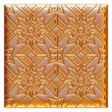 Elemento dorato classico della decorazione su fondo bianco isolato Immagini Stock Libere da Diritti