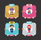 Elemento dos ativos do jogo da opção do caráter do herói Fotos de Stock