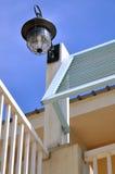Elemento e lampada geometrici della costruzione Fotografia Stock Libera da Diritti