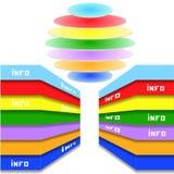 Elemento-ejemplo geométrico del gráfico de la información Imágenes de archivo libres de regalías