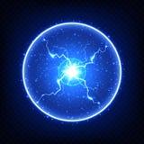Elemento elettrico astratto, fulmine globulare d'ardore royalty illustrazione gratis