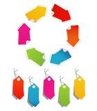 Elemento en blanco del diseño de las flechas de la cinta del color Foto de archivo libre de regalías