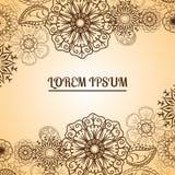 Elemento ENV 10 di Henna Flowers Mehndi Design Vector Immagine Stock Libera da Diritti