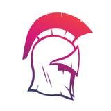 Elemento espartano del vector del casco para el logotipo o la impresión Imagen de archivo