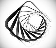 Elemento espiral geométrico feito dos quadrados Fotos de Stock