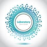 Elemento esverdeado abstrato do laboratório médico. Imagens de Stock