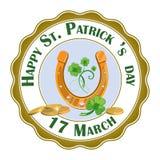 Elemento feliz do projeto do St Patrick Day Vetor do EPS 10, agrupado para a edição fácil ilustração royalty free