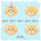 Elemento festivo di progettazione del gatto Illustrazione di Stock