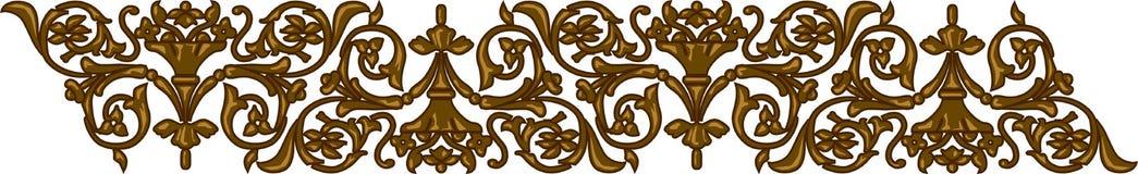 Elemento floral antiguo de la frontera Fotografía de archivo libre de regalías