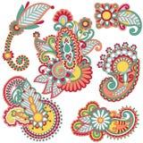 Elemento floral coloreado Foto de archivo libre de regalías
