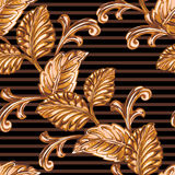 Elemento floral de bronze decorativo Foto de Stock