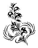 Elemento floral decorativo Fotografía de archivo libre de regalías