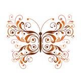 Elemento floral del diseño de la mariposa Foto de archivo