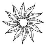 Elemento floral del garabato abstracto ilustración del vector