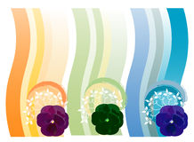 Elemento floral do projeto Foto de Stock Royalty Free