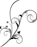 Elemento floral do projeto Imagem de Stock Royalty Free