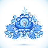 Elemento floral do vetor no estilo do gzhel Fotografia de Stock