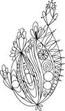 Elemento floral para colorear Libre Illustration