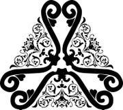 Elemento floreale antico del bordo Fotografia Stock