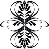Elemento floreale nero Illustrazione di Stock