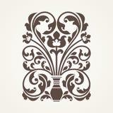 Elemento floreale ornamentale per progettazione Immagine Stock