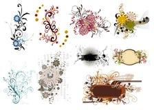 Elemento floreale per il disegno Immagini Stock