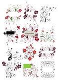 Elemento floreale per il disegno Fotografia Stock Libera da Diritti
