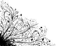 Elemento floreale per il disegno, vettore Fotografie Stock