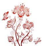 Elemento floreale per il vostro disegno Fotografie Stock