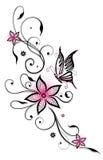 Elemento floreale rosa Fotografie Stock Libere da Diritti