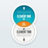 Elemento gemellato Infographic Immagine Stock Libera da Diritti
