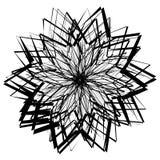 Elemento geométrico abstracto con las líneas irregulares Distorte radial ilustración del vector