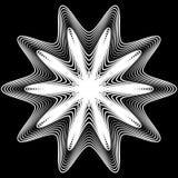 Elemento geométrico abstrato com linhas irregulares Distorte radial ilustração do vetor