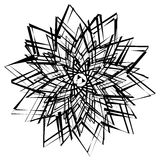 Elemento geométrico abstrato com linhas irregulares Distorte radial ilustração royalty free