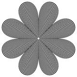 Elemento geométrico abstrato Forma de giro de linhas radiais com ilustração do vetor