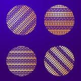 Elemento geométrico de la mandala hecho adentro Elementos decorativos de la vendimia Fondo de la acuarela Islam, árabe, indio, ad Imagen de archivo libre de regalías