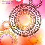 Elemento geométrico de la mandala hecho adentro Elementos decorativos de la vendimia Fondo de la acuarela Islam, árabe, indio, ad Fotos de archivo libres de regalías