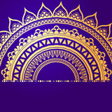 Elemento geométrico de la mandala hecho adentro Elementos decorativos de la vendimia Fondo de la acuarela Islam, árabe, indio, ad Imágenes de archivo libres de regalías