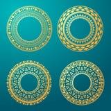 Elemento geométrico de la mandala hecho adentro Elementos decorativos de la vendimia Fondo de la acuarela Islam, árabe, indio, ad Imagenes de archivo