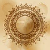 Elemento geométrico de la mandala hecho adentro Elementos decorativos de la vendimia Fondo de la acuarela Islam, árabe, indio, ad Fotografía de archivo libre de regalías