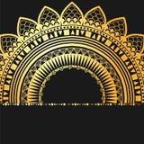 Elemento geométrico de la mandala hecho adentro Elementos decorativos de la vendimia Fondo de la acuarela Islam, árabe, indio, ad Foto de archivo