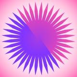 Elemento geométrico del círculo de líneas radiales Estallar las líneas combinación Fotos de archivo libres de regalías