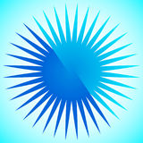 Elemento geométrico del círculo de líneas radiales Estallar las líneas combinación Fotografía de archivo