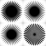 Elemento geométrico del círculo de líneas radiales Estallar las líneas combinación ilustración del vector