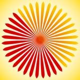 Elemento geométrico do círculo de linhas radiais Estourando linhas fusão Imagem de Stock Royalty Free