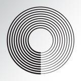 Elemento geometrico del cerchio concentrico Vettore royalty illustrazione gratis