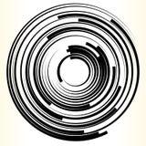 Elemento geometrico del cerchio Forma monocromatica astratta del cerchio illustrazione vettoriale